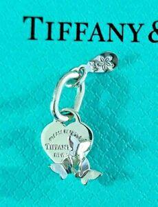 Tiffany Co Sterling Silver Mini Heart Tag Berry Marlow Butterflies