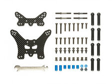 Tamiya 54754 RC Tt02b Front & Rear Carbon Damper Stays Set for 58568/58596/58630