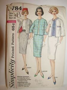Vintage 1960s Chanel Style Suit Pattern Bust 38