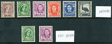 Australian 1942-49 King George VI Definitives, 8 stamps,  MNH