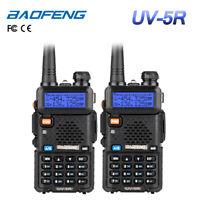2Pcs BaoFeng UV-5R 136-174/400-520Mhz V/UHF Dual Band Ham Radio Transceptor DHL