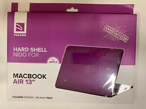 "Tucano Hard Shell for 13"" Macbook Air Purple Cover/Case A1466/A1369 Anti-Scratch"