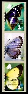 FINLAND Sc. 1296 1 lk Butterflies 2007 MNH coil strip of 3