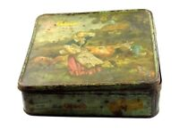 Vintage decor collectible advertisement tin box parle's Gluco biscuits.i2-10 US