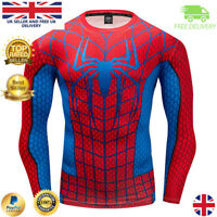 JHK Sports Mens Batman v Superman Gym Compression Marvel Style Cosplay Top MMA BJJ Cycling Stag Crossfit