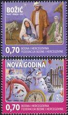 Bosnia Herzegovina 2012 Christmas/New Year/Greetings/Nativity/Snowmen 2v b2756j