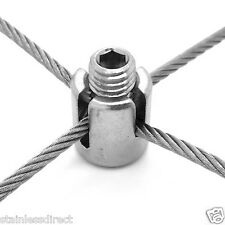 Acero Inoxidable 316 de grado marino para satisfacer hasta 3 Mm De Cuerda de alambre enrejado Cruz Clip