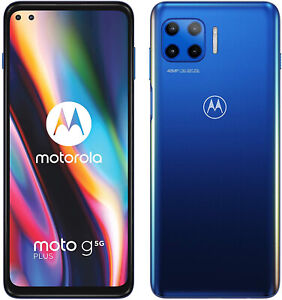 "New Motorola Moto G 5G Surfing Blue 6.7"" 64GB Dual SIM Andriod 10 Unlocked Sim F"