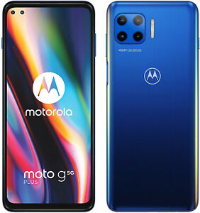 "New Motorola Moto G 5G Surfing Blue 6.7"" 64GB Dual SIM Andriod 10 Unlocked Sim F"