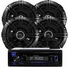 "Kenwood KDC-BT22 200W Receiver+Kicker 2-PAIRS 6.5"" 2-Way DS Series 240W Speakers"