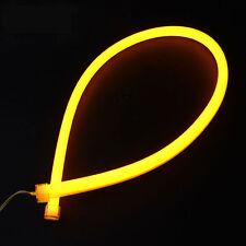 2PCS 60cm Yellow Car Flexible Tube LED Strip DRL Light Switchback DIY Headlight
