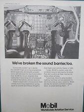 5/1972 PUB MOBIL OIL CONCORDE 001 SUPERSONIC JET LUBRICANT ORIGINAL AD