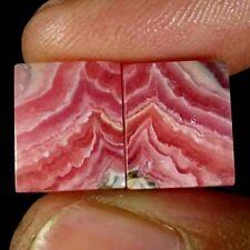 14.10Cts Natural Rhodochrosite Cushion Pair Cabochon Loose Gemstone