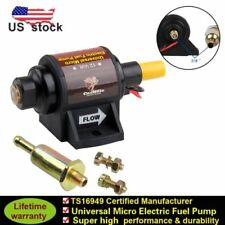 12V Universal Electric Fuel Pump Applications 42 GPH 2-3.5PSI  5/16 inch New
