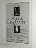 1931 General Electric refrigerator advertisement, early Monitor Top, GE fridge
