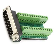 2X(DB25 25-Pin Stecker Anschlussplatine RS232 Seriell zu KlemSignal-Modul) V3A2