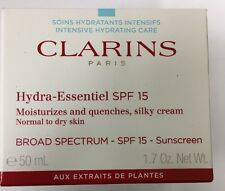 CLARINS HYDRA ESSENTIEL SPF 15 SILKY CREAM NORMAL TO DRY SKIN NIB SEALED