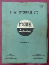 Mc CONNEL POWER ARM - MODEL  'U'  <> INSTRUCTIONS<>ORIGINAL  1960's  USERS  COPY