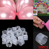 50pcs Arch Balloon Buckle Connectors DIY Christmas Wedding Party Ballon Clips UK