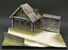DioDump DD151-A Russian 'Izba' diorama 1:72 scale resin house, gate, fence, base