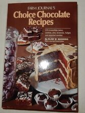 Farm Journal's Choice Chocolate Recipes by Elise W. Manning 1978 Candy Cookies