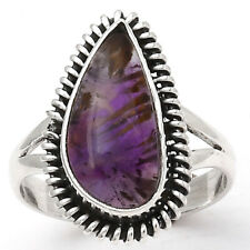 Cacoxenite Super Seven 7 Mineral 925 Sterling Silver Ring s.7.5 Jewelry 3037