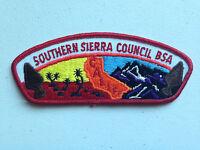 BOY SCOUT BSA CSP COUNCIL PATCH SOUTHERN SIERRA CALIFORNIA TOUGH MINT PRETTY