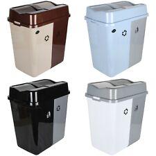 Déchets Poubelle Recyclage Double Compartiment 100L