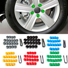 Black 20pcs Wheel Center Cover Caps + Removal Tool For VW Golf Audi 321601173A