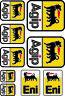 AGIP Eni Oils Lubricants Stickers Decals Graphics Aprilia Ducati Laminated /10