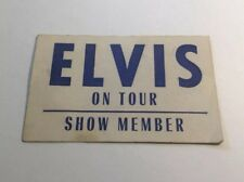 RARE Elvis On Tour Show Member / Estate Of Sonny West