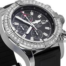 Breitling Super Avenger Men's 48mm Chronograph Black Dial Diamond Watch A13370