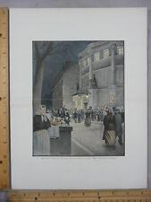 Rare Antique Orig VTG Cirque d'Hiver Filles du Calvaire Illustration Art Print