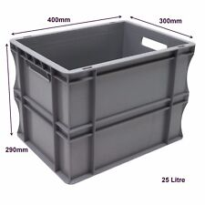 Very Strong Heavy Duty Type Stackable Plastic Euro Storage Boxes 16 Sizes 25 Litre
