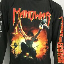 Vintage Manowar Tour T Shirt Sz XL Agony And Ecstasy World 94/95 Long Sleeve