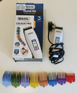 WAHL Colour Pro Mens White Corded Hair Clipper Trimmer 9155-2417X Clippers Whal
