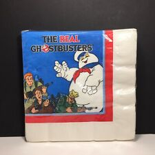 Vintage 1986 New/Old Sealed The Real Ghostbusters 13� Napkins 16 Count C.A. Reed