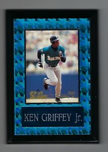 "Vintage 1990s 6.5"" x 4.5"" Card Plaque Ken Griffey Seattle Mariners #3"