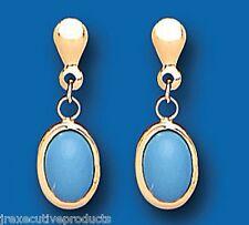Turquoise Earrings Yellow Gold Drop earrings