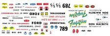 """SKIP WILSON """"THE FUGITIVE"""" Ford Thunderbolt 1/32nd Scale Slot Car Decals"""