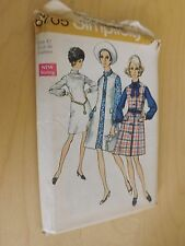 Vintage 1970 Classic A-Line #8705 Simplicity Pattern Size 24 or 42, Bust 46