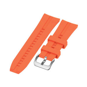 22mm Silicone Watch  Band Watchband Wristband Replacement with Buckle Z7A7