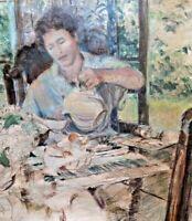¨The Breakfast¨ Acrylic on canvas - Artist Maria Rivero