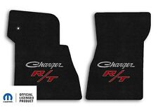 1968-1970 Dodge Challenger 2pc Carpet Front Floor Mats with RT Logo - Ebony