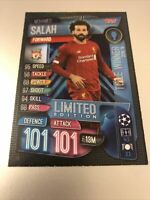 MATCH ATTAX EXTRA 2019/20 MOHAMED SALAH BLUE LIMITED EDITION TITLE WINNER LE6