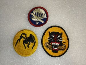 WW2 IS ARMY PATCH LOT.  135TH AIRBORNE, TANK DESTROYER, AND GLIDER CAP PATCHES