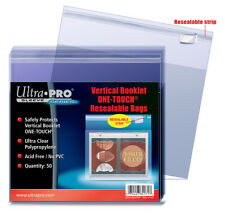 Ultra Pro One-Touch Resealable Bags: Vertical Booklet (50)