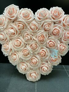Blush Pink Roses Heart Wall Hanging Decoration - Birthday, Christmas Gift