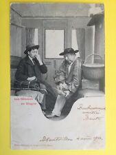 cpa 1900 Phot. BERGERET & Cie NANCY Les Gêneurs en Wagon ODEUR Smell TRAIN