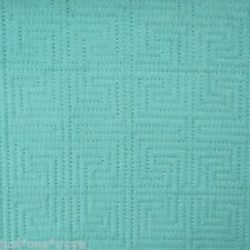 TEAL Greek Key QUEEN COVERLET SOUTHERN LIVING LUXURIOUS SOFT COTTON QUILTED FULL